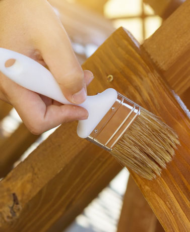 Staining is a great way to give your furniture and wood accents a coordinated look throughout your