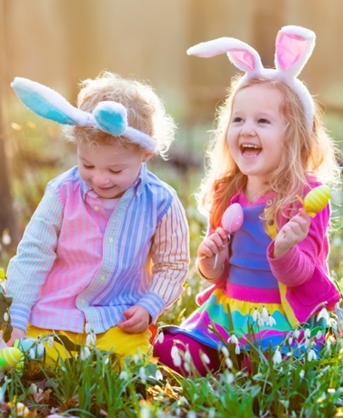 Watch out for potential safety hazards before the kids start the annual Easter egg hunt.