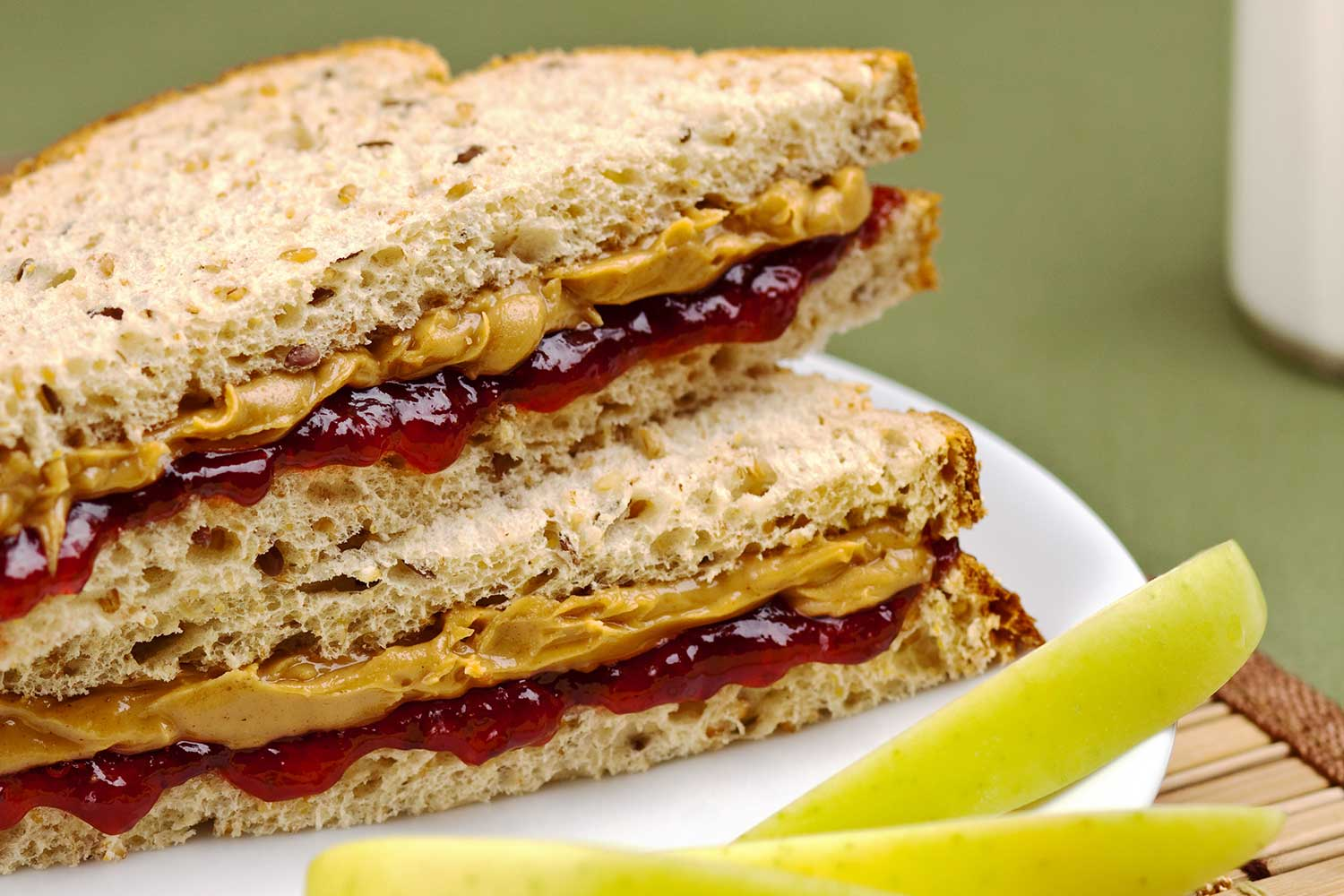 Peanut butter and jelly sandwich.