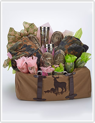 Crazy for Camo Gift Baskets