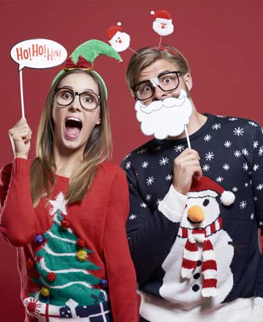 Fun Holiday Fashion From Sweaters To Santa Hats