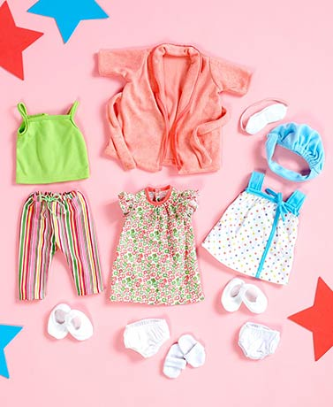 Sets of 3 Doll Outfits or Shoe Set