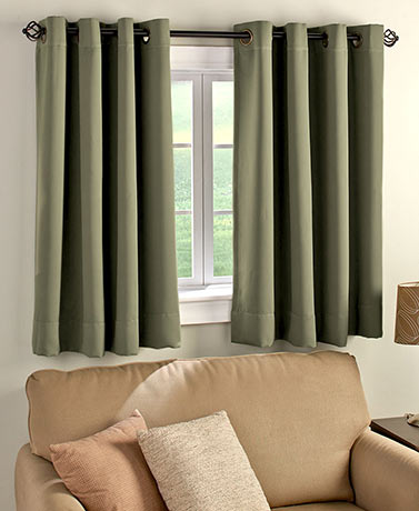 Short Panel Blackout Curtain