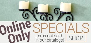 Online only specicals! Items not sold in our catalogs!