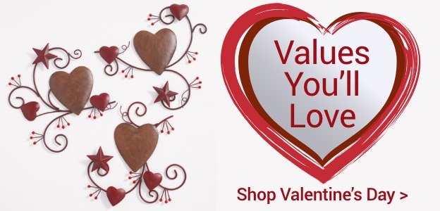 Values you'll love. Shop Valentines Day.