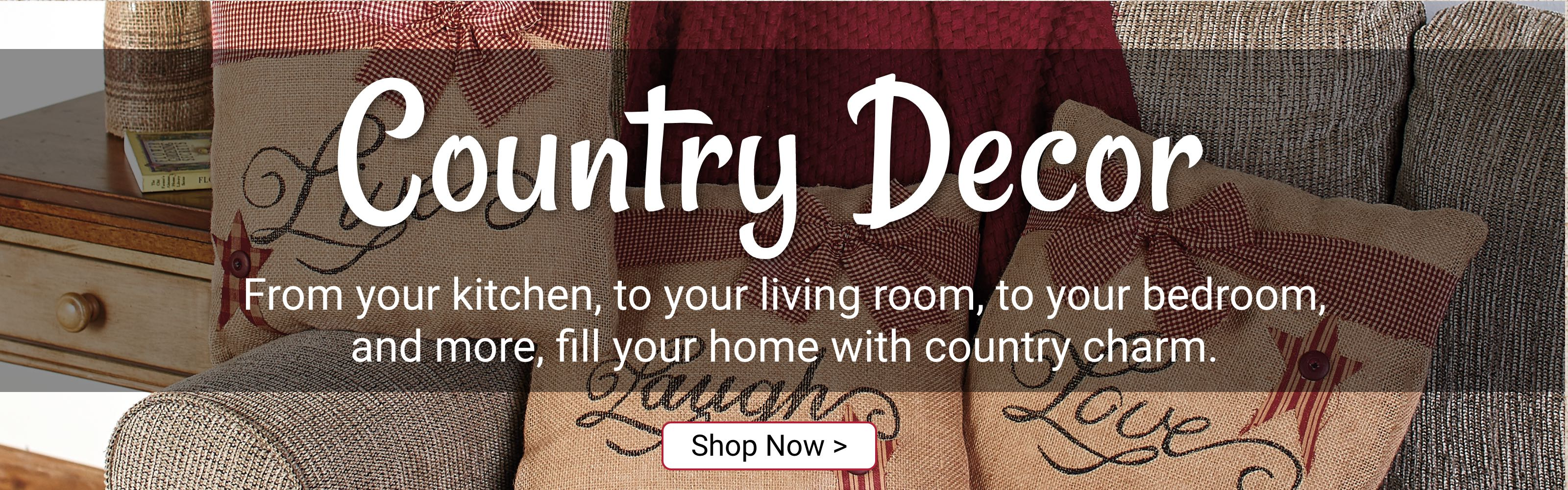 Country decor. Shop now.