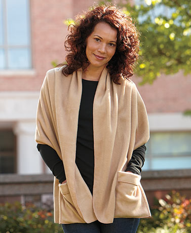 Women's Shawl Wrap With Pockets