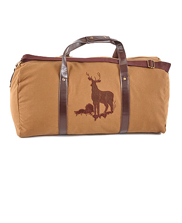 Deer Canvas Duffel Bag