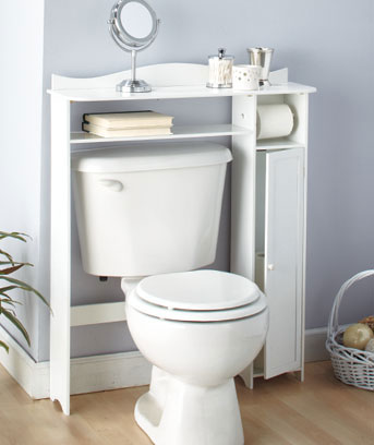 the toilet table with storage bathroom cabinet in