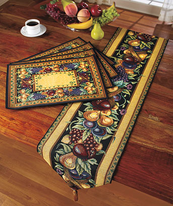 Tapestry Table Runner Or Placemat Sets ...