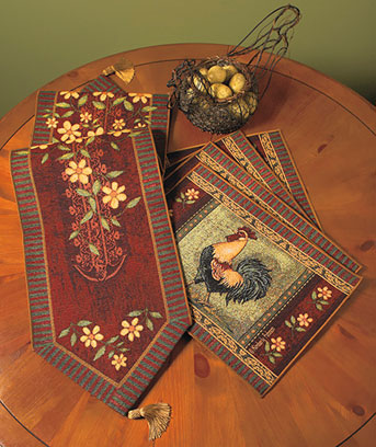 ... Tapestry Table Runner Or Placemat Sets