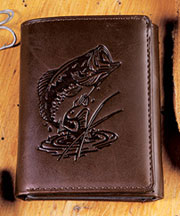 Genuine Leather Tri-Fold Wallets