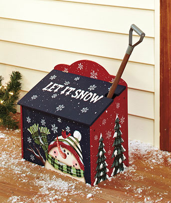 Sidewalk Salt Box With Shovel