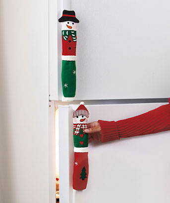 Set of 3 Snowman Appliance Handle Covers