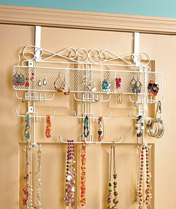 Over-the-Door Jewelry Valet