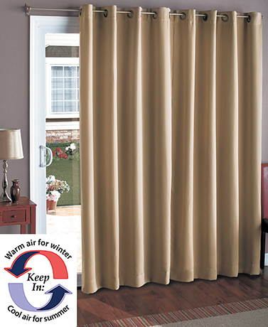 "112"" Wide Blackout Patio Curtain"