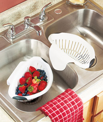 Set of 2 Over-the-Sink Colanders