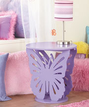 Butterfly Shaped Tables - Purple