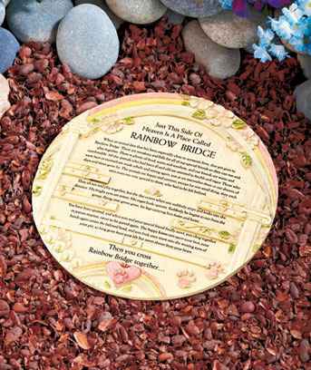 Rainbow Bridge Pet Marker with Urn