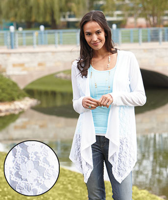 Women's Lace Trim Cardigans