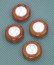Set of 4 Wood-Grain Touch Lights