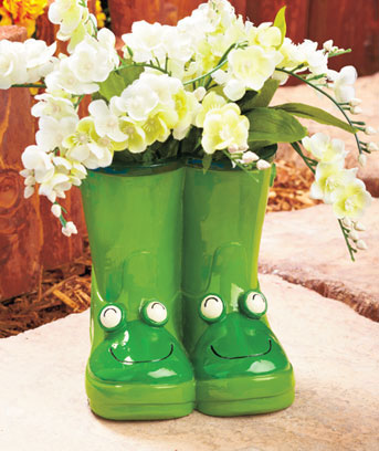 Whimsical Boot Planters