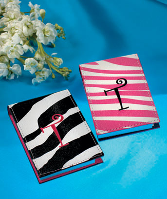 Sets of 2 Monogram Zebra Notebooks with Pens