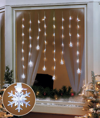 LED Window Icicle Lights
