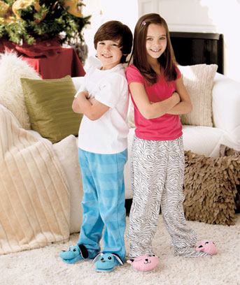 Kids' Footed Fleece Pants