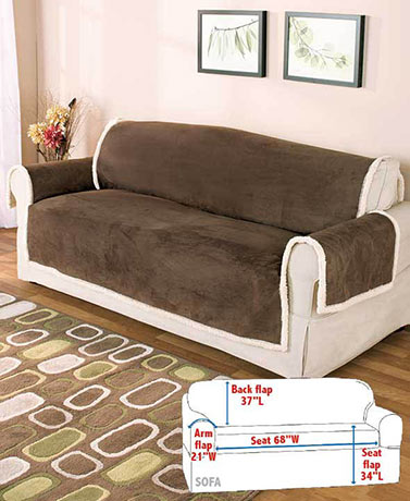 Microsuede & Sherpa Furniture Covers