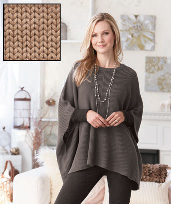 Women's Boatneck Poncho Sweaters