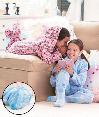 Girls' Footed Pajamas with Hood