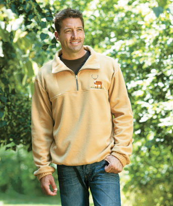 Men's Wildlife Fleece Pullover Jackets