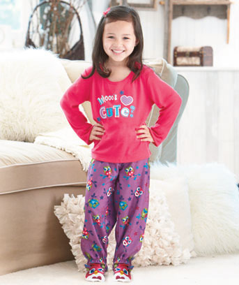 2-Pc. Kids' Novelty Footed PJs