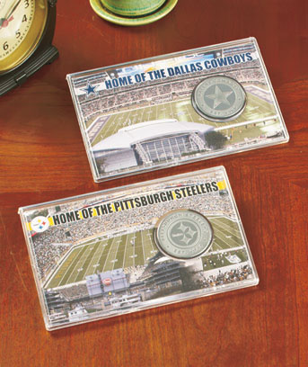 NFL Stadium Coin Cards