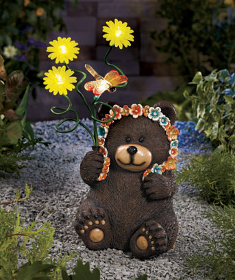 Bear with Solar Bouquet Statue