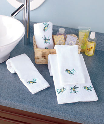 4-Pc. Embroidered Towel Sets