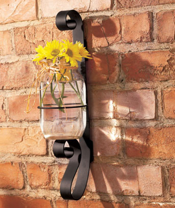 Wrought Iron Canning Jar Sconce The Lakeside Collection
