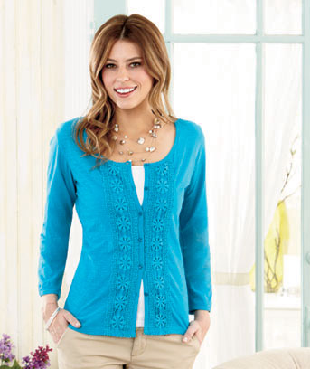 Women's Crochet Trim Cardigans