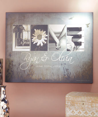 Personalized Love Letters Wall Art