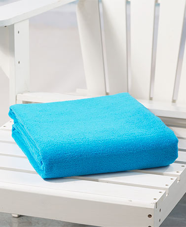 "55"" x 70"" Jumbo Towels for Two - Solid Blue"