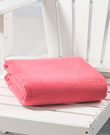 "55"" x 70"" Jumbo Towels for Two - Solid Coral"