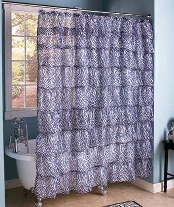 Ruffled Tier Shower Curtains