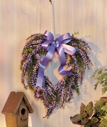 Lilac Spring Heart Wreath