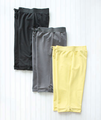 Women's Plus Set of 3 Button Tab Bermudas