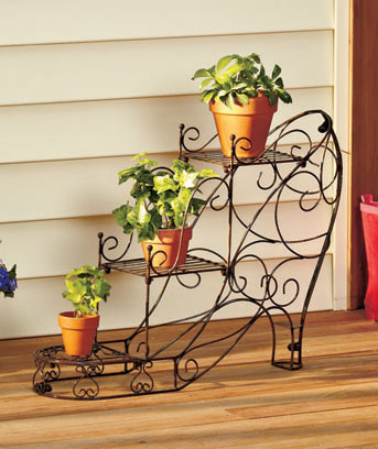 Shoe or Purse Plant Stands