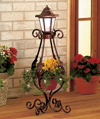 Decorative Solar Post with Planter