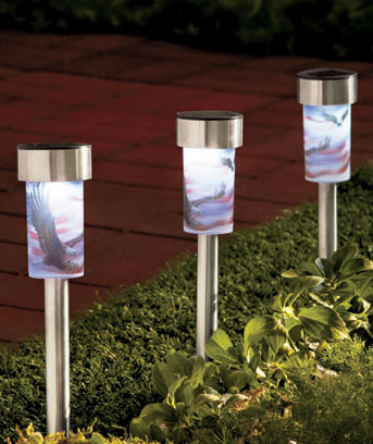 Sets of 3 Lenticular Solar Stakes