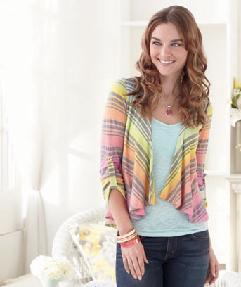 Women's Bright Pastel Open Cardigans
