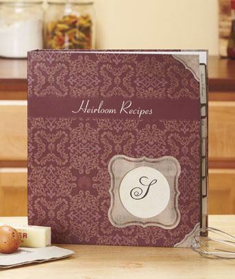 Monogram Recipe Binder